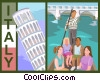 Vector Clip Art image  of a Italy postcard design