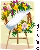 Vector Clip Art graphic  of a funeral wreath