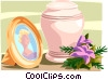 Vector Clip Art graphic  of a funeral urn
