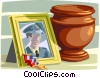 Vector Clipart picture  of a funeral urn, ashes of a loved one