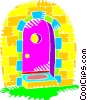Vector Clip Art graphic  of a doorway