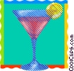 Vector Clip Art image  of a refreshing summer cocktail