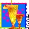 Vector Clip Art image  of a refreshing summer cocktails