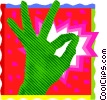 Vector Clipart image  of a hand A-OK sign