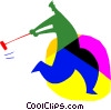Vector Clipart graphic  of a croquet