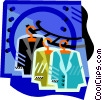 Vector Clipart graphic  of a dry cleaning