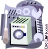appliance maintenance Vector Clipart image