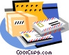 parcels and letters for postage Vector Clipart image