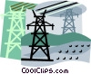 Vector Clipart illustration  of a hydro industry