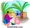 travel and vacations Vector Clip Art picture