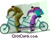 business concepts, teamwork Vector Clipart picture