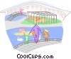 Vector Clip Art graphic  of a day at the zoo