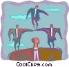 business teamwork Vector Clip Art picture