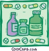 pharmaceutical, prescriptions, pills Vector Clipart picture