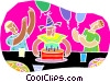 chalk style, birthday party Vector Clipart image