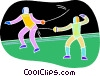 Chalk style, fencing Vector Clip Art picture