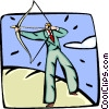 business concept, archery Vector Clip Art picture