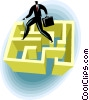 Business concepts, maze Vector Clip Art picture
