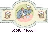 Vector Clip Art graphic  of a bar scene