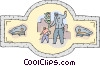crossing guard Vector Clip Art picture