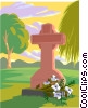 memorial, gravestone Vector Clipart picture