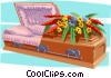 Vector Clipart graphic  of a coffin