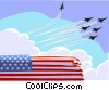 Vector Clip Art image  of an Air force funeral