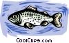 Vector Clipart graphic  of a fish