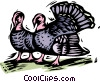 Farm scene, turkey Vector Clipart image