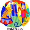 lion tamer at the circus Vector Clip Art picture
