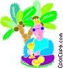 Vector Clip Art picture  of a Summer vacation