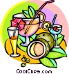 cool summer drinks Vector Clipart image
