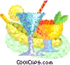 refreshing summer drinks Vector Clipart graphic
