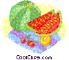 summer melons Vector Clip Art graphic