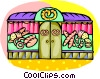 Vector Clipart graphic  of a Bakery store front