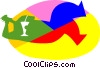 Vector Clipart image  of a relaxing with a drink