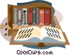Vector Clipart graphic  of a library books