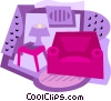 Vector Clipart image  of a home furnishings