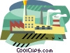 industrial factory symbol Vector Clip Art graphic