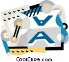 Vector Clip Art image  of a printing press