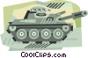 Vector Clip Art image  of a tank