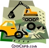Vector Clip Art graphic  of a construction equipment