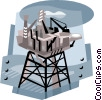 oil industry, drilling platform Vector Clip Art picture