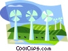 hydro industry, windmills Vector Clip Art picture