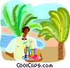travel and vacations, waiter Vector Clipart picture