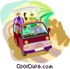 Vector Clip Art image  of a travel and vacations