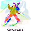 winter sports, skiing Vector Clipart graphic