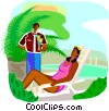 Vector Clipart graphic  of a travel and vacations