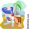 Vector Clip Art image  of a Relaxing in a comfortable