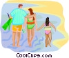 Vector Clipart picture  of a travel and vacations